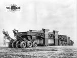 Tracteur Willème vue arrière de la remorque Scari