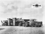 Tracteur Willème de transports exceptionnels avec remorque Scari