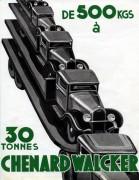 publicité Chenard & Walcker 1934