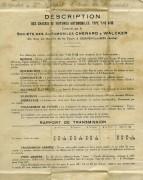 Feuille descriptive des Mines du Chenard & Walcker T10D35 de 1931