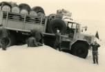 GBO15P 6x6 long essais Touggourt Bir Djedid 1959 camion ensablé