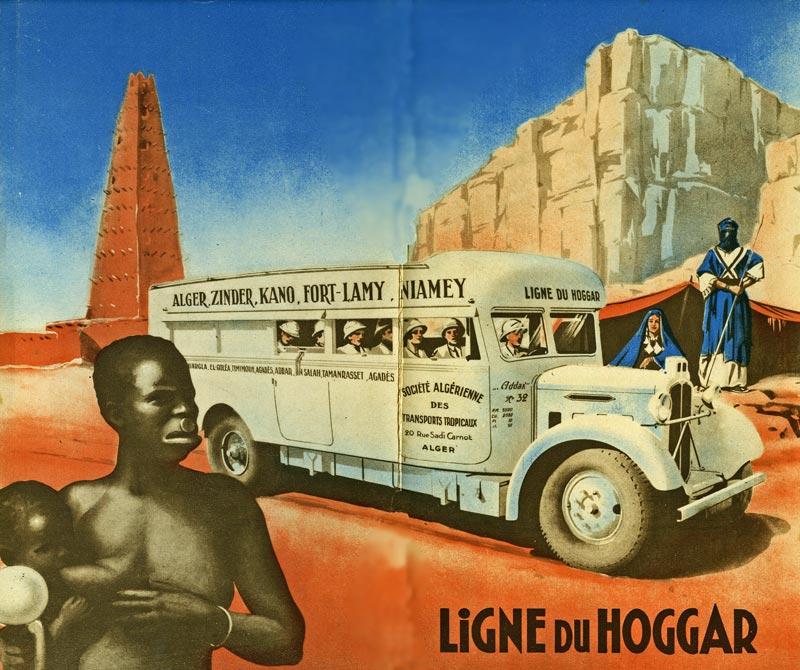 camions des sables   les voies de communication au sahara