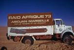 raid-Afrique 1973 gros plan sur le L64 blanc