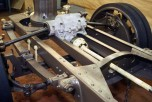 Détail de la transmission arrière et du différentiel