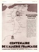 Affiche Rallye Saharien 1930