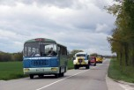 Les camions en route vers Birieux