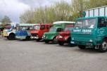 Camions en stationnement