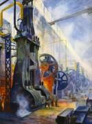 Vue de la forge - dessin de publicité 1932