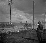 Grand prix 1924 Delage et Sunbeam après les tribunes