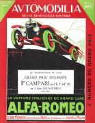 couverture Automobillia 1924 Alfa Romeo