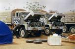 Dakar 1980 Sonacome au bivouac