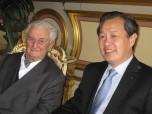 Paul Berliet et Monsieur l'Ambassadeur de Chine en 2009