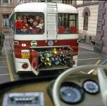 1964 : ski dans les Vosges en autocar Berliet !