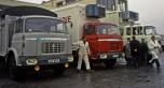 Berliet trois camions à cabine relaxe
