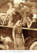 jeunes femmes au volant 1921