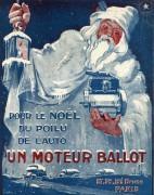 pub pere noel moteur Ballot 1917