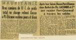 Berliet Mauritanie articles presse 1958