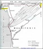 Mauritanie carte itinéraire