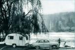 Simca Aronde vacances caravane 1960