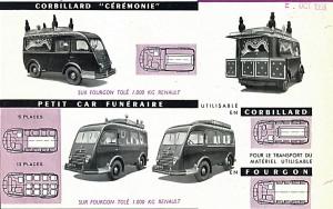 renault Carrier corbillards 1955