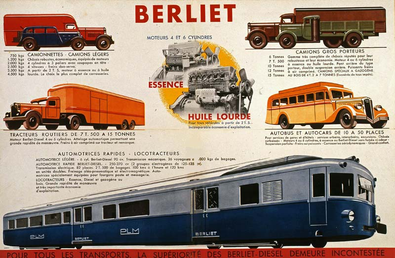 Berliet pub gamme 1935