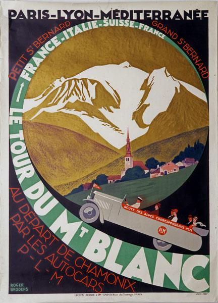 PLM affiche tour-du Mt-Blanc 1927