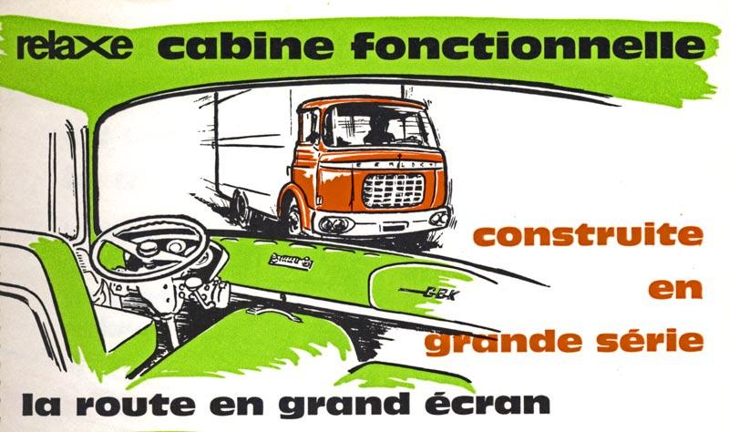 Berliet cabine relaxe publicité GBK