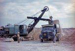 Berliet Cuba GLM 6X4 sur un chantier 1966