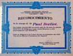 Berliet Cuba diplôme reconnaissance Paul Berliet 2002