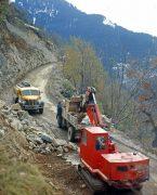 élargissement route Alpe d'Huez 1967