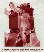chambre combustion moteur Unic 1954