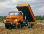 Berliet L646M3 orange tribenne Marrel vue 2