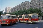 Berliet PR110 et Bus Jelcz 772 Varsovie 1977