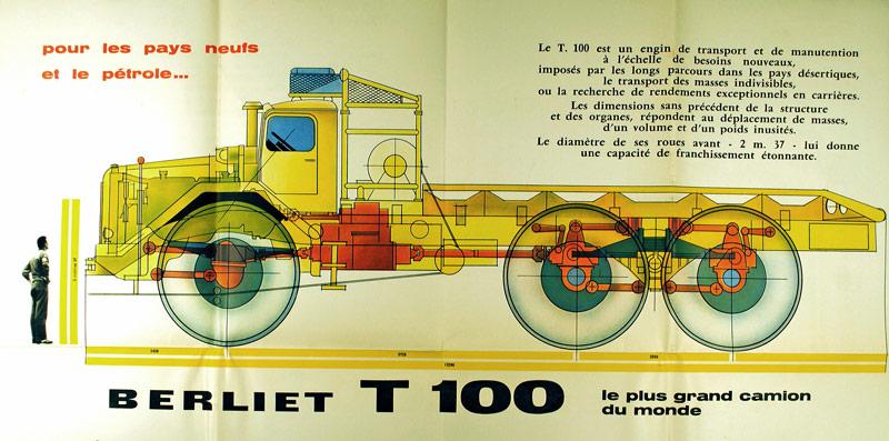 berliet t100 plan profil 1957