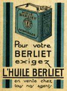 Publicité Huiles Berliet 1927