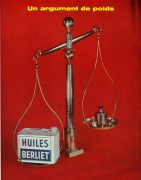 Publicité Huiles Berliet 1958