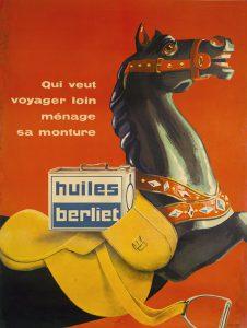 Publicité Huiles Berliet 1956