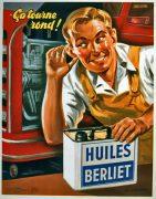 Publicité Huiles Berliet 1957