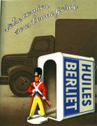 Publicité Huiles Berliet 1954