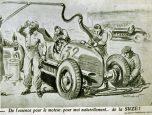 Pub Suze alcool au volant 1930