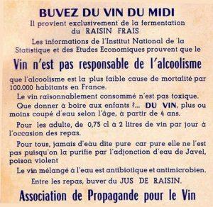 publicité de 1934 vin du midi